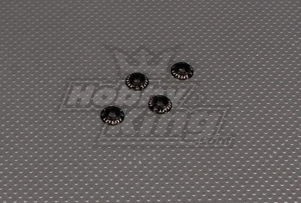 CNC Flanged Washer 4.0 (M4, # 8-32) Black