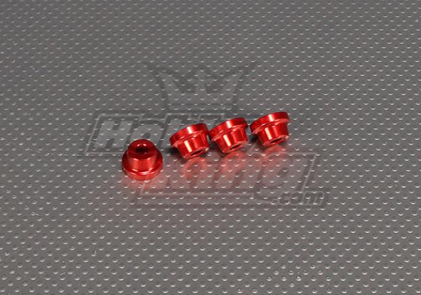 CNC suporte isolador 10 mm (M5) Vermelho