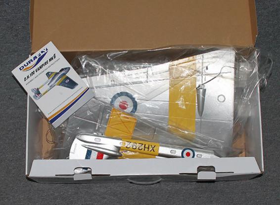 RISCO / DENT Durafly DH100 vampiro Mk6 EDF Jet w / retrai 1.100 mm (PNF)