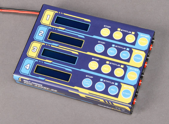HobbyKing ™ ECO 4 x 6S Lithium Polymer multi Charger