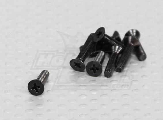 2.5x12mm Contador cabeça afundado Parafuso (10pcs / pack)