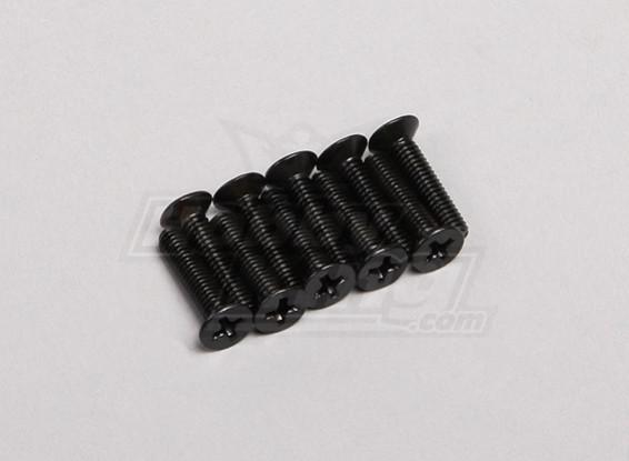 4x18mm escareada Parafuso (10pcs / pack)