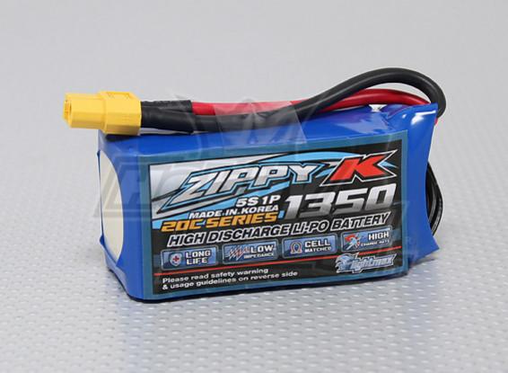 Bateria Zippy-K Flightmax 1350mAh 5S1P 20C Lipoly