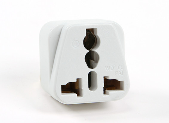 Turnigy WD-016 Fused 13 Amp Corrente eléctrica multi Adapter-White (Plug UA)