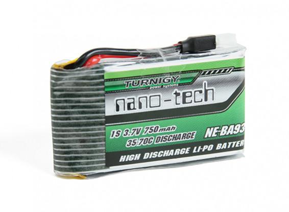 Turnigy nano-tecnologia 750mAh 1S 35 ~ 70C Lipo Pack (Fits Nine Eagles Solo-Pro 180)