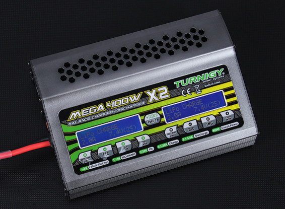 Turnigy MEGA 400Wx2 Carregador de Bateria / descarregador (800W)
