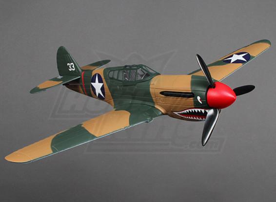 Micro P-40 Super escala w / stand (PNF)