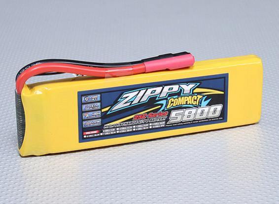 ZIPPY Compact 5800mAh 2S 25C Lipo pacote