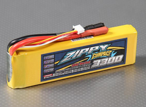 ZIPPY Compact 3300mAh 3S 35C Lipo Pack com o XT60 (Venda a retalho apenas)