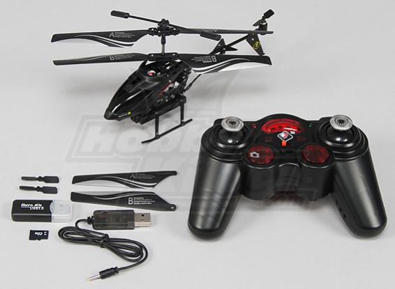 Micro Spycam Helicopter w / cartão SD de 1GB (Modo 1) (RTF)