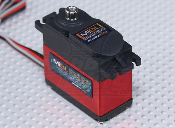 HobbyKing ™ Mi Digital sem escova magnético Indução Servo HV / MG 15 kg / 0.13sec / 56g
