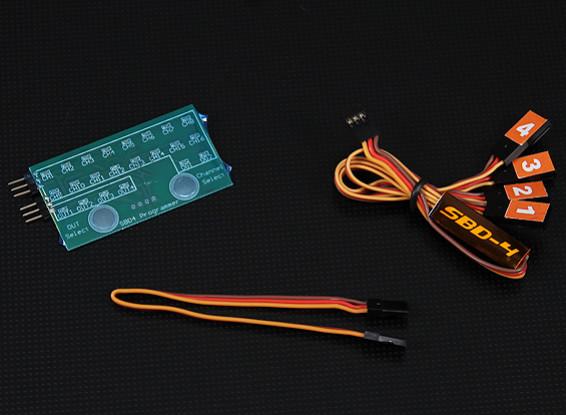 SBD4 4-Channel S.BUS Decoder e cartão de programa Combo