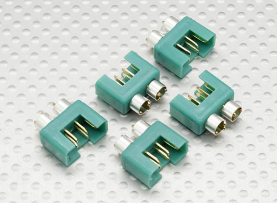 conector MPX com anel de cor prata, do sexo masculino (5pcs por saco)