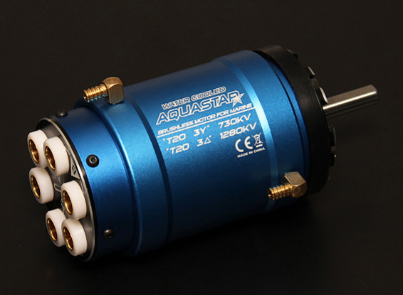 Turnigy AquaStar T20 3T 730KV / 1280KV resfriada a água sem escova Motor