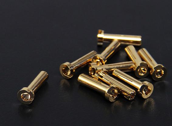 4 milímetros ouro Conectores - Low Profile (10pc)