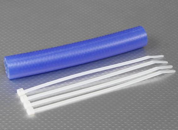 Heavy Duty Silicone de escape acoplador Tubing 152x15mm (azul)