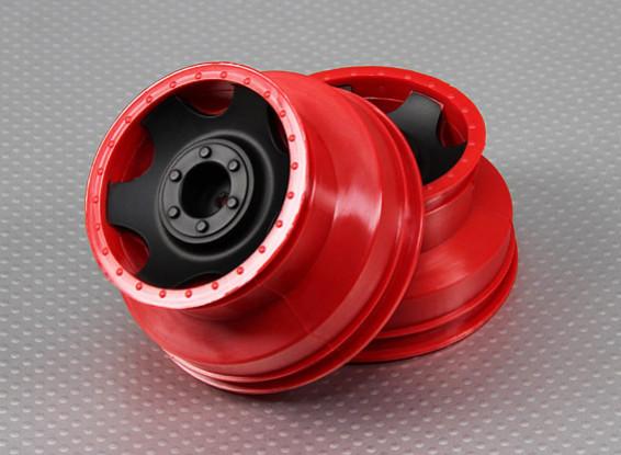Roda 1/10 Turnigy 4WD Brushless Curso de curta duração camião (2pcs / saco)