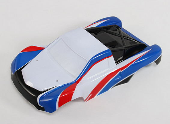 Pré-pintada Shell corpo w / decalques 1/10 Turnigy 4WD Brushless Curto Truck Course