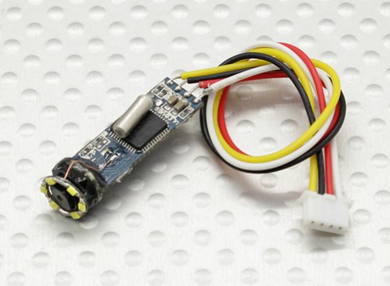 Micro câmera com lâmpada LED 420TVL