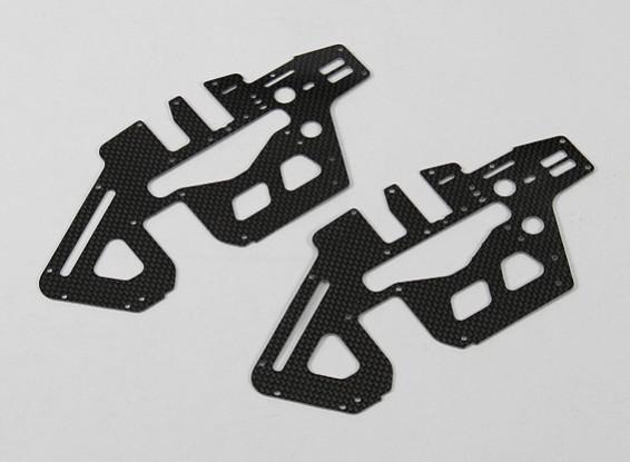 Trex / HK450 PRO 1,2 milímetros de fibra de carbono principal Set estrutura lateral (2pcs / bag)
