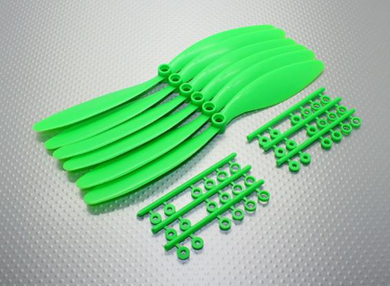 GWS EP Hélice (RD-8060 203x152mm) verde (6pcs / set)