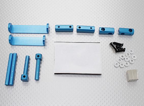 1/8 Car Set montagem corpo magnético (azul)
