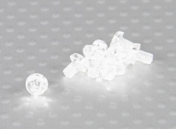 Parafusos policarbonato transparente M3x4mm - 10pcs / bag