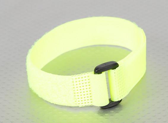 Hook and Loop Universal Tie Down - Flouro Yellow  - 300mm