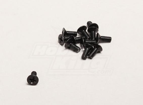 3x8mm Cabeça Chata Cruz Parafuso (12pcs / bag) - Turnigy Trailblazer 1/8, XB e XT 1/5