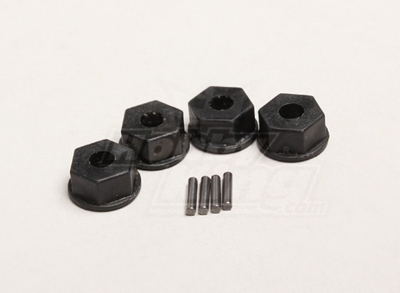 Hex Hub 12 milímetros w / PIN (4pcs / saco) - Turnigy Trailblazer 1/8