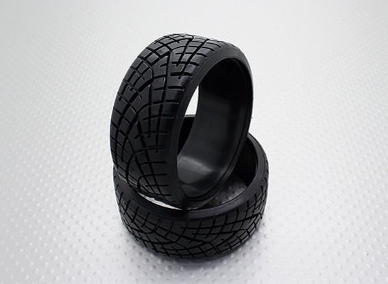 Pneus escala 1:10 Composto plástico rígido CR-Xman deriva (2pcs)