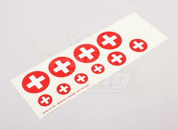 Escala da folha Força Aérea Nacional Insignia Decal - Swiss (pequeno)