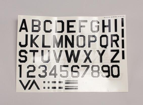 Letras / símbolos Preto-prata Luftwaffe Estilo (Med) Estilo 1