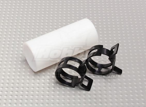 Engate Teflon com clipes (22 milímetros de tubos) para silencioso
