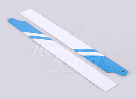 325 milímetros de fibra de vidro principal Blades (azul / branco)