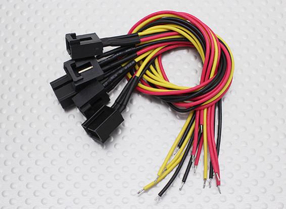 Molex 3 pinos cabo conector fêmea com 220 milímetros x 26AWG Wire.