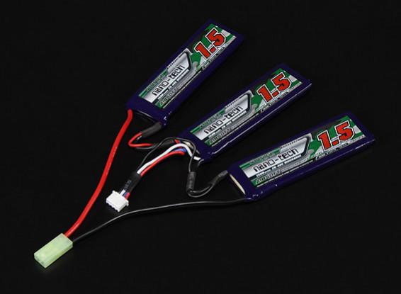 Turnigy nano-tecnologia de 1500mAh 3S 20-40C Lipo AIRSOFT pacote
