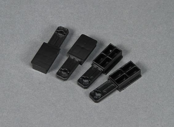 HobbyKing Go Discover FPV 1600 milímetros - Substituição de plástico asa Titular (4pcs)