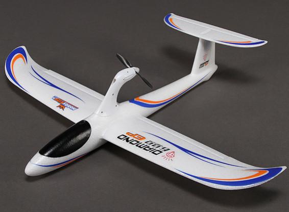 HobbyKing® ™ Diamante 600 EP Glider Airplane EPO 600 milímetros (RTF)