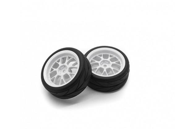 HobbyKing 1/10 roda / pneu Set VTC Y Raio (Branco) RC 26 milímetros carro (2pcs)