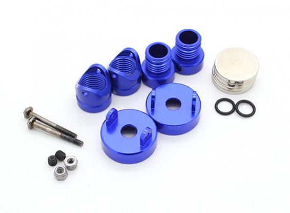 Invisíveis corpo de alumínio de montagem Posts (2pcs) Azul