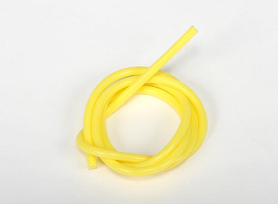 Heavy Duty Silicone Combustível Cano Amarelo (Nitro) (1 mtr)