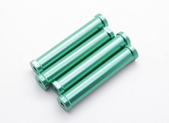 M4 x 60 milímetros CNC alumínio stand-Offs (verde) 4pcs