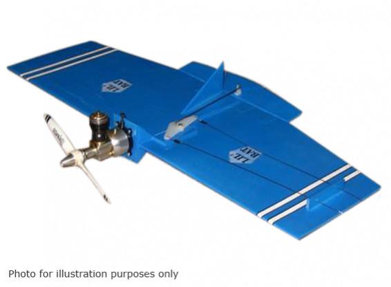 Black Hawk Modelos Lil '(Com) Linha de Controle Bat Balsa 457 milímetros (Kit)