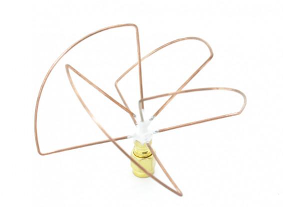 2.4GHz Circular polarizada antena RP-SMA receptor só (Short)