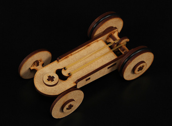 Borracha Modelo Banda Car Laser Cut Wood (Kit)