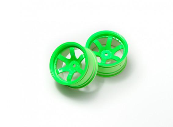 01:10 Rally rodas de 6 raios Neon Green (9 milímetros Offset)