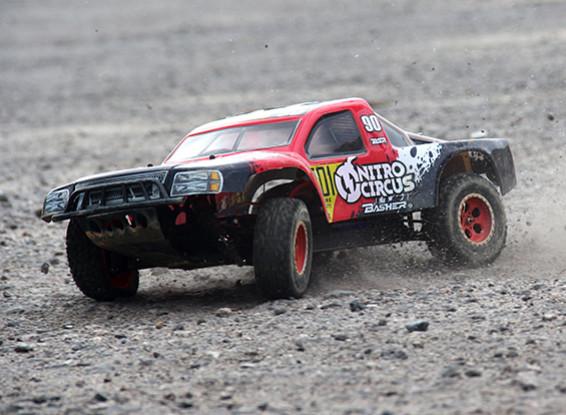 Basher Nitro Circus 4x4 1/10 Escala Curto Truck Course (ARR)