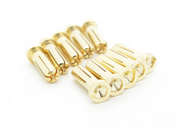 5 milímetros Masculino banhado a ouro Primavera Connector - Low Profile (10pcs)