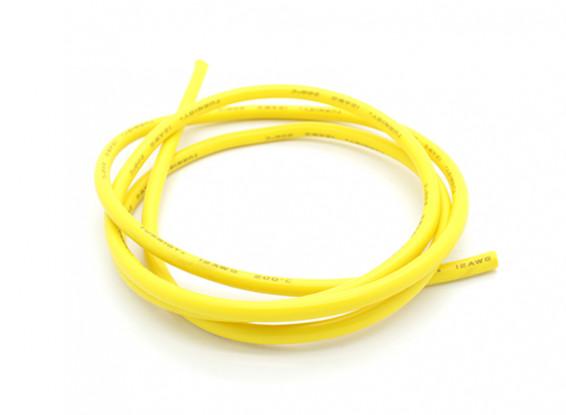 Turnigy Pure-Silicone fio 12AWG 1m (amarelo)